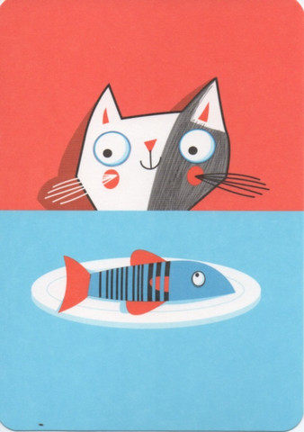 Kitten with a fish