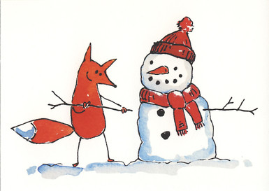 Fox and snowman