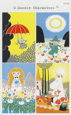 Moomin-stickers (3 sheets) #17
