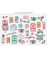 Sinikara Stationery - Pastel Outdoor Adventure