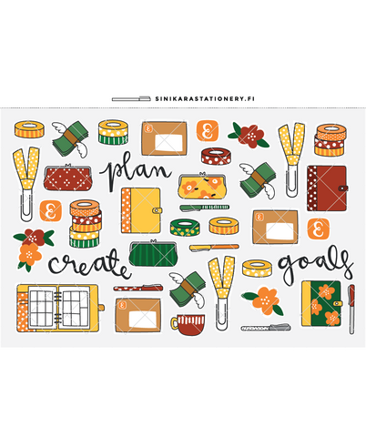 Sinikara Stationery -Retro Planner Goodies
