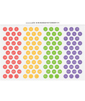 Sinikara Stationery - Bright Date Dots (4 kuukautta)