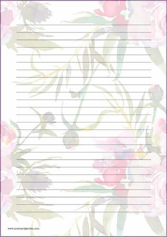 Peonies - writing papers (A5, 10s)