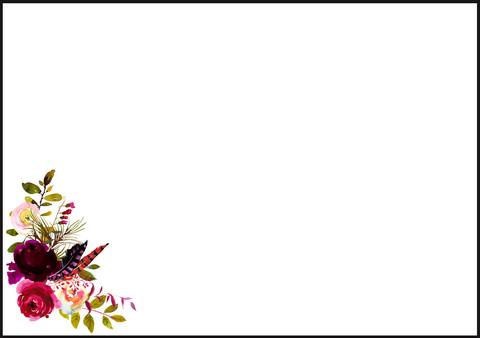 Roses - envelope (C6)