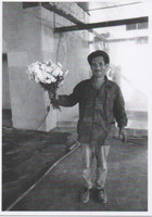 Man and bouquet