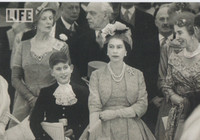 Queen Elizabeth with Prince Charles