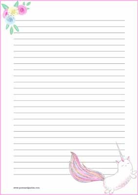 Caticorn - writing papers (A4, 10s) #1