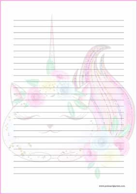 Caticorn - writing papers (A4, 10s) #2