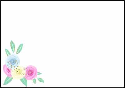 Värikkäät kukat - kirjekuori (C6)