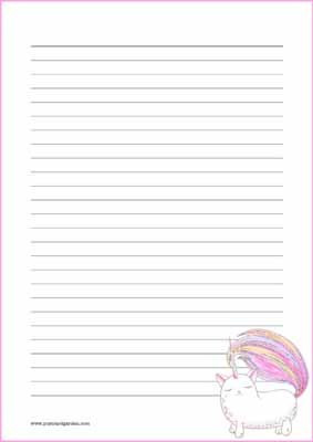 Caticorn - kirjepaperit (A4, 10s) #3