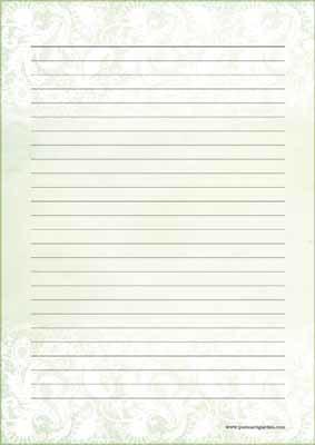 Vihreä pitsi - kirjepaperit (A5, 10s)