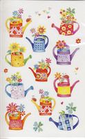 Watering cans - stickers (3 sheets)