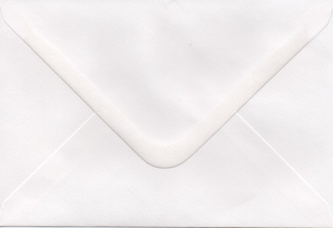 Solid color envelope 12.5x18.5cm - white