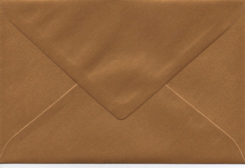 Solid color envelope 12.5x18.5cm - pearly gold