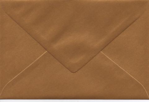 Yksivärinen kirjekuori 12.5x18.5cm - helmiäiskulta