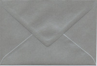 Solid color envelope 12.5x18.5cm - pearly silver