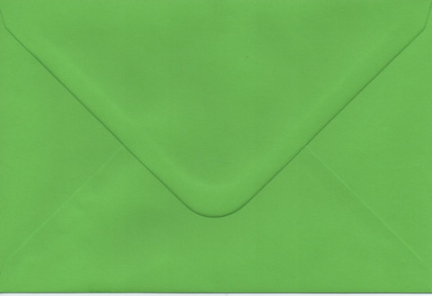 Solid color envelope 12.5x18.5cm - vivid green