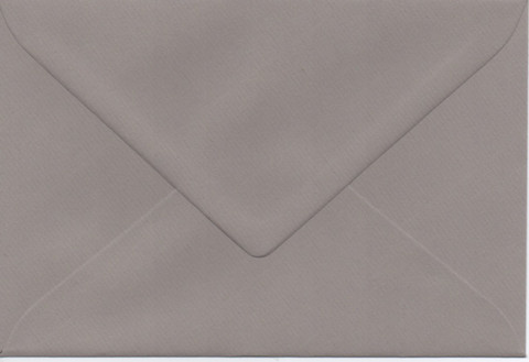 Solid color envelope 12.5x18.5cm - gray