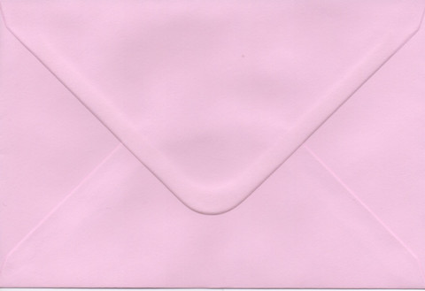 Solid color envelope 12.5x18.5cm - light pink