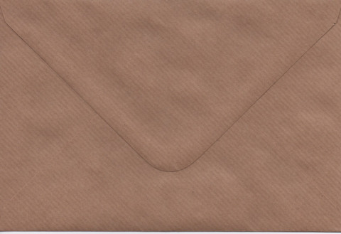 Solid color envelope 12.5x18.5cm - brown