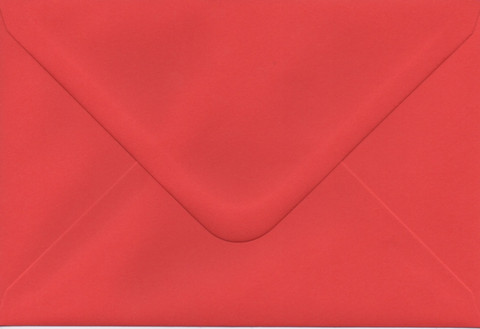 Solid color envelope 12.5x18.5cm - red