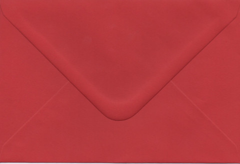 Solid color envelope 12.5x18.5cm - dark red