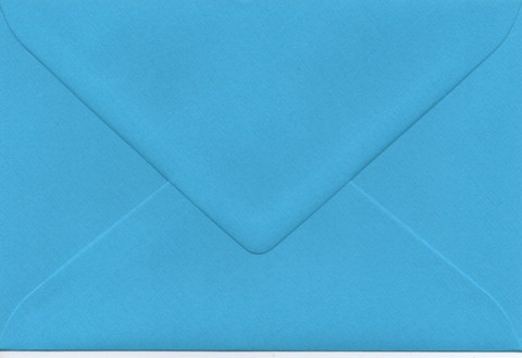 Solid color envelope 12.5x18.5cm - bright turquoise