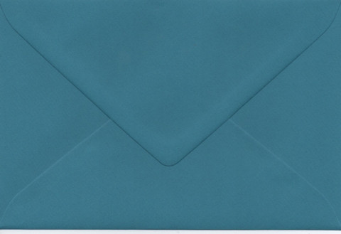 Solid color envelope 12.5x18.5cm - dark turquoise