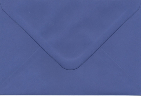 Solid color envelope 12.5x18.5cm - dark blue violet