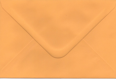 Solid color envelope 12.5x18.5cm - dark yellow