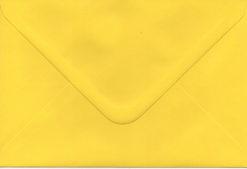 Solid color envelope 12.5x18.5cm - bright yellow