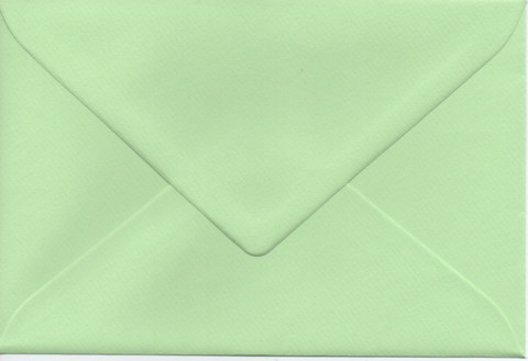 Solid color envelope 12.5x18.5cm - light green