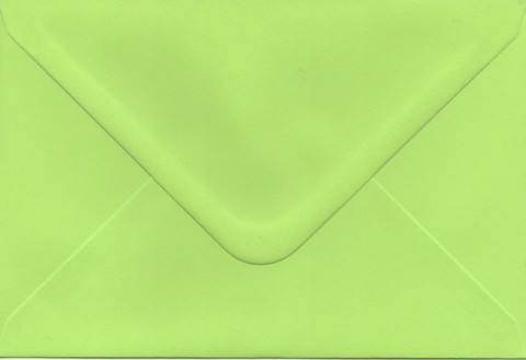 Solid color envelope 12.5x18.5cm - bright green