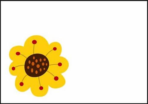 Yellow flower - envelope (C6)