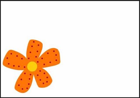 Oranssi kukka - kirjekuori (C6)