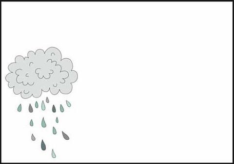 Sadepilvi - kirjekuori (C6) #1