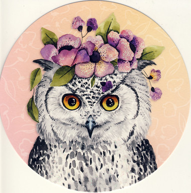 Round card - Owl
