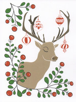 Christmas card 2018, 13x17cm - Reindeer (white)