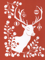 Christmas card 2018, 13x17cm - Reindeer (red)