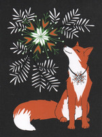 Christmas card 2018, 13x17cm - Fox (black)