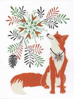 Christmas card 2018, 13x17cm - Fox (white)
