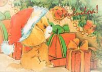 Christmas postcard - Pets #1