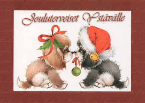 Christmas postcard - Pets #6