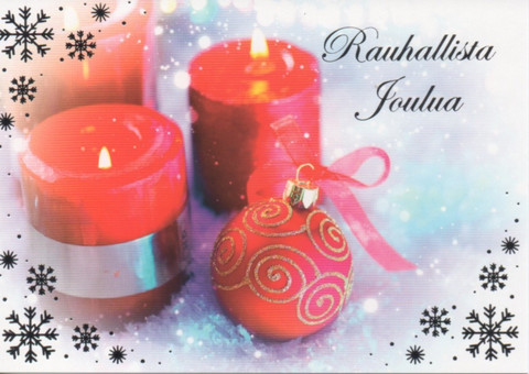 Christmas postcard - Candle flame #6