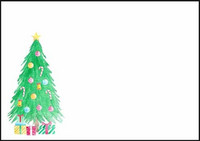 Christmas tree - envelope (C6)