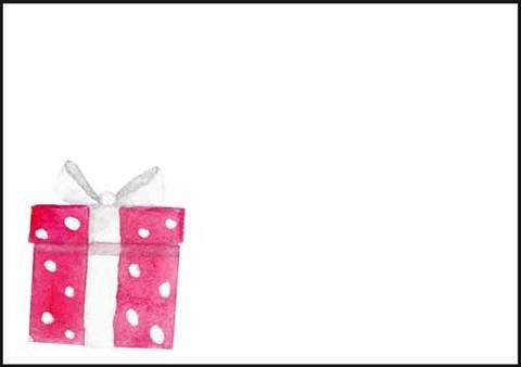 Lahjapaketti - kirjekuori (C6) #2