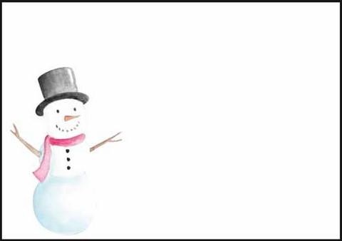 Snowman - envelope (C6) #2