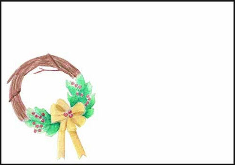 Wreath - envelope (C6)