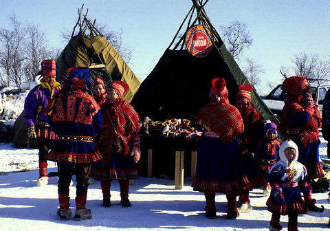 Traditional Lapp costumes