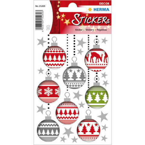 Christmas decorations - stickers (3 sheets)